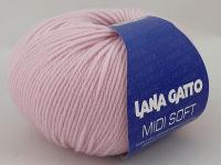 Lana Gatto Midi Soft (05284 светло-розовый) 100% меринос экстрафайн 50 г/142 м фото